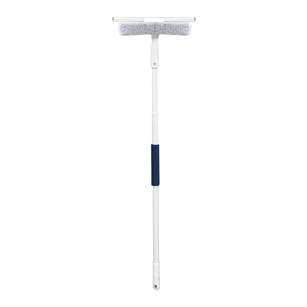 "MicroFiber 14"" Window Squeegee with Scrubber and 5' Pole - Unger squeegees and scrubbers"