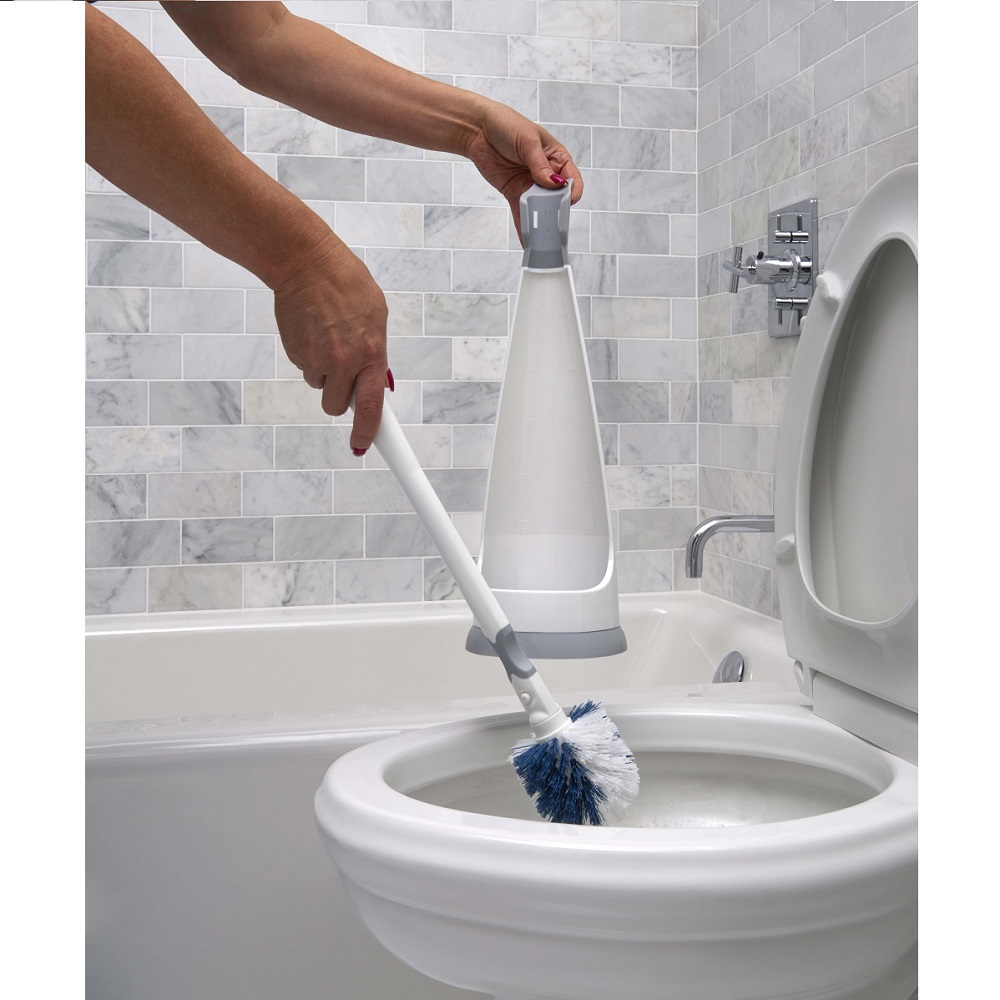 Toilet Brush Set and Cleaning Tools with Portable Caddy | Unger Cleaning