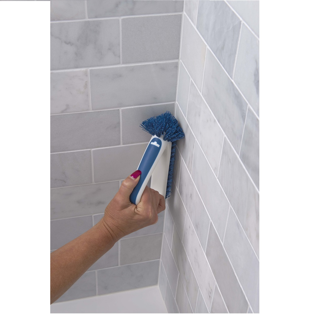 Unger grout scrubber brush and corner cleaner - Unger bathroom cleaning