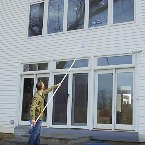 Microfiber window cleaning tool with pole - Unger window cleaning