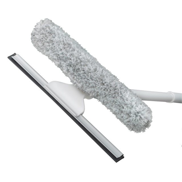 12in Outdoor Window Squeegee and Scrubber Kit - Unger Window Squeegees & Scrubbers